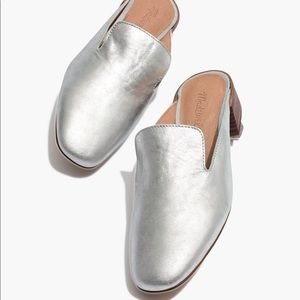 Madewell Silver Heeled Loafer Mules